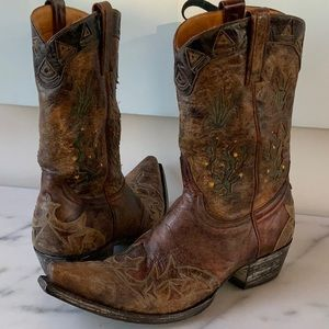 Old Gringo Cacti's Peewee Inlay Boot 8 Gorgeous!🌟